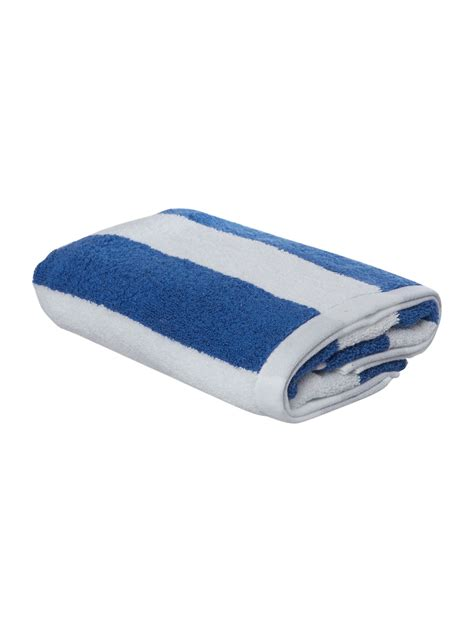 blue patterned towels uk linea nautical wide striped bath towel from in blue from