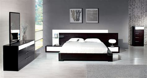stylish wood elite modern bedroom set feat light