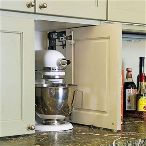 Clever Storage Solutions Behind Closed Doors Kitchen Appliance Storage Cabinets