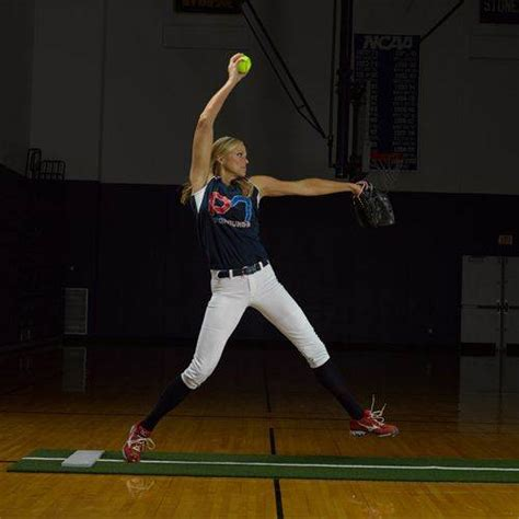 pitching mat with powerline bsn sports