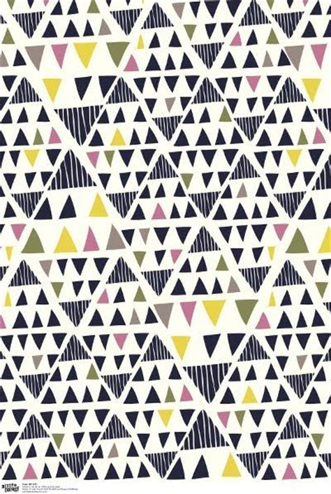 Triangle Pattern Gift Wrap   fun gift wrap design by leah duncan via print pattern