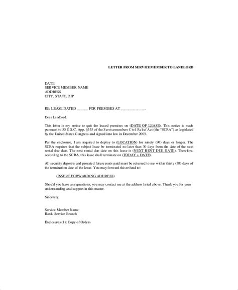rent contract cancellation letter lease termination template 5 free word pdf documents
