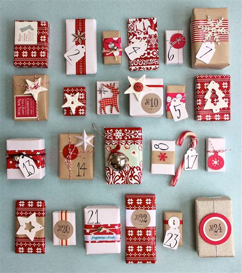 gorgeous handmade advent calendar tiny wrapped boxes