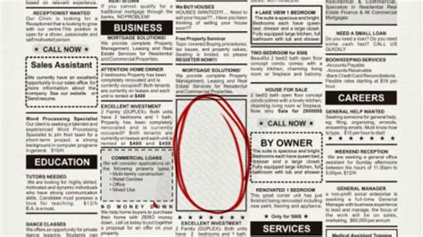 Facebook Ads Vs Print Classifieds Head To Head Web Design From Scratch Classified Ads Template