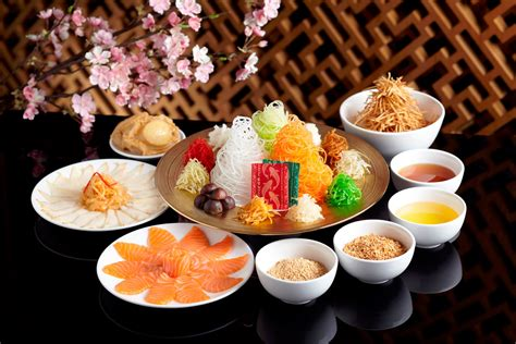new year snacks malaysia welcome lunar new year with yu sheng asia food