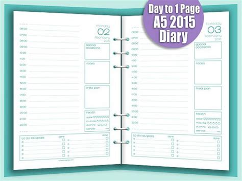 printable dated journal pages 17 best filofax images on pinterest organizers
