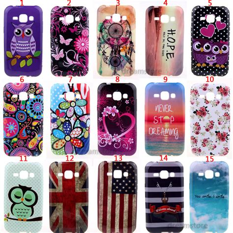 Softcase Anticrack Samsung J1 J100 Soft Casing Cover Clear butterfly flowers various silicone soft skin cover for samsung galaxy j1 j100 in phone bags