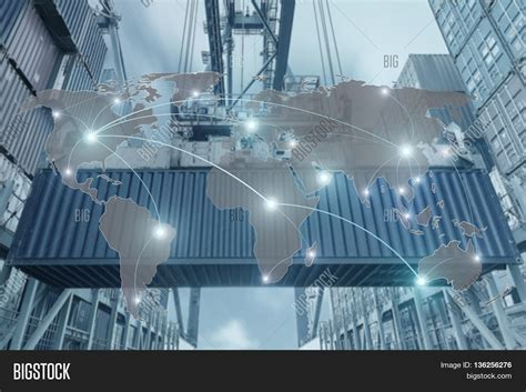 Koko Big Size Export 21 import export logistics concept map global partner connection of container cargo freight ship