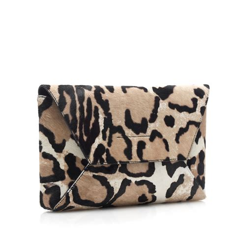 Jcrew Gillian Calf Hair Bag by J Crew Collection Calf Hair Envelope Clutch In Black Lyst