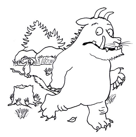 The Gruffalo Colouring Pages Free The Gruffalo Mouse Coloring Pages by The Gruffalo Colouring Pages