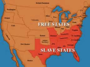 Map Of Slave States by Free States Civil War Apps Directories