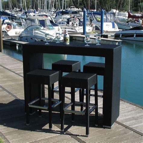 tavoli con sgabelli ar bt set da giardino in alluminio e simil rattan con