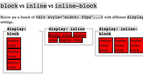 html5 tutorial interview questions css display block vs inline block vs inline css3