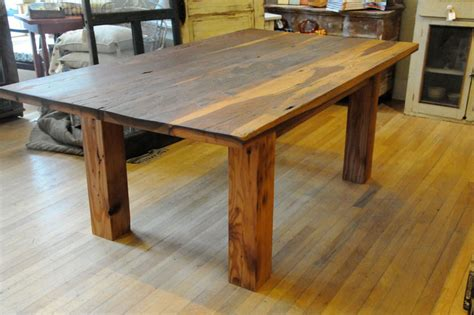 Timber Kitchen Table Reclaimed Barnwood Custom Furniture Timber Ridge Salvage Webpage Construction