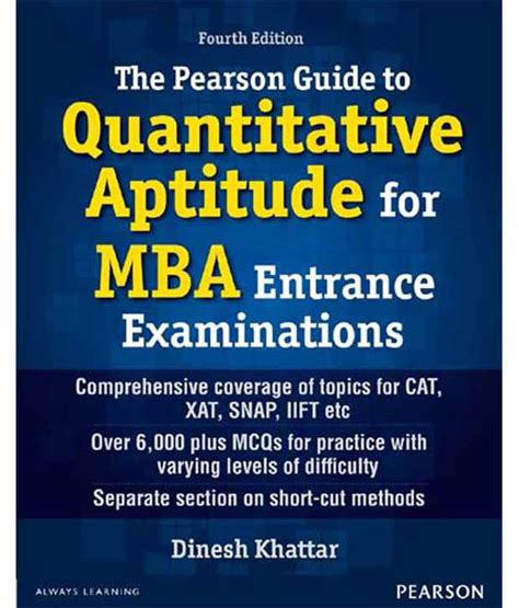 Mba Entrance Book By Rs Aggarwal by The Pearson Guide To Quantitative Aptitude For Mba