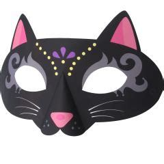 printable halloween cat masks mask cat costumes event paper craft canon