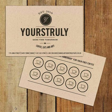 coffee shop loyalty card template really digging this business loyalty card design