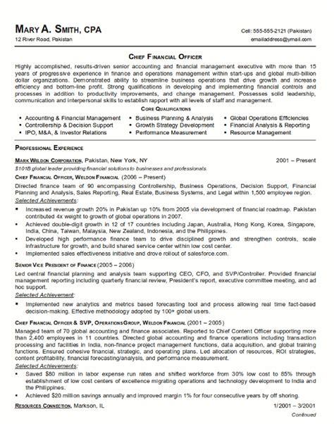 Financial Resume Template   Resume Builder