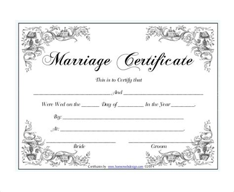 Free Marriage Certificate Template by Marriage Certificate Template Tryprodermagenix Org