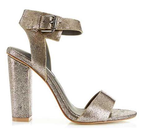 gold block heel sandals shoe of the day miss selfridge chelsea gold block heel