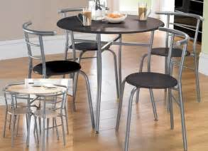 Gray Kitchen Table And Chairs Dining Table Set Kitchen Table And 4 Chairs Black Grey Frame Compact Ebay
