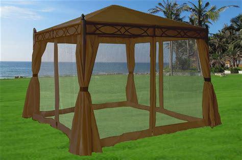 10x10 gazebo canopy 10 x 10 beige gazebo canopy