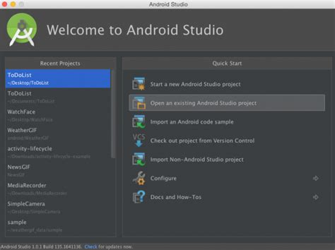 tutorial android studio project introduction to android activities tutorial new study club