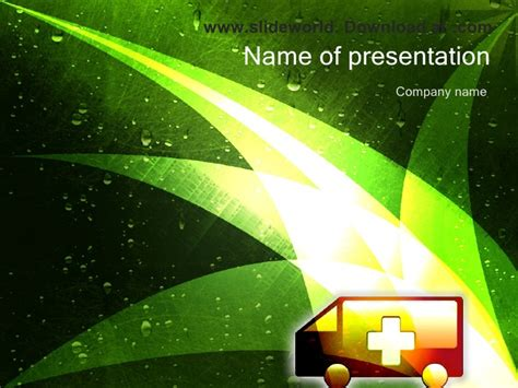 powerpoint themes slideshare ambulance powerpoint ppt templates