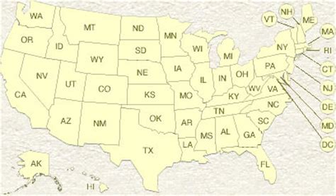 us map showing states only us map states only