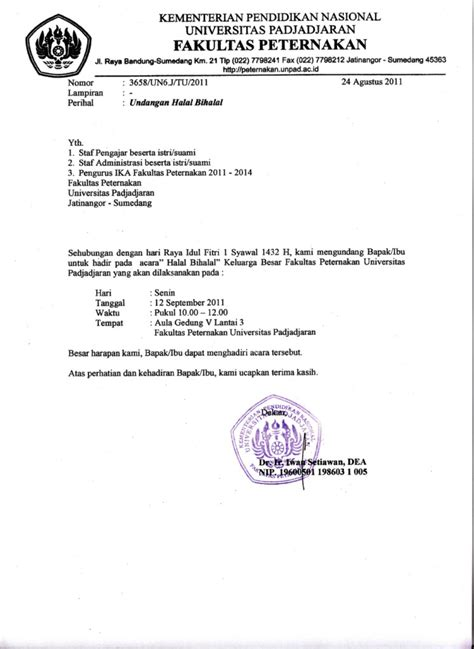 Invitation Letter Resmi Koleksi Contoh Invitation Letter Surat Undangan Motorcycle Review And Galleries