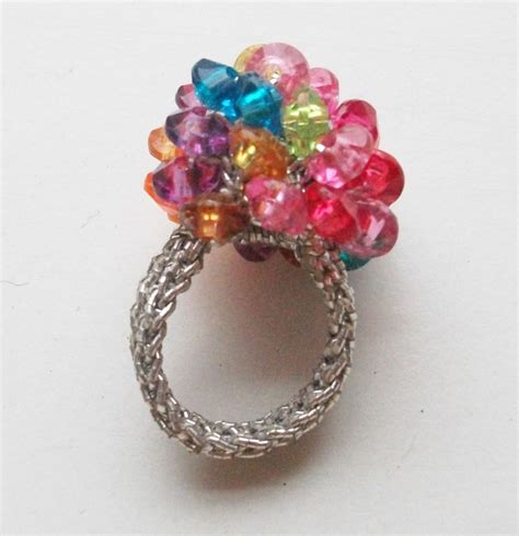 crochet flower pattern magic ring 17 best images about crocheted with beads ring on