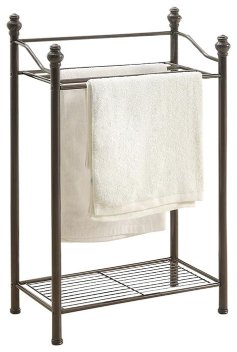 Bath Towel Rack Stand by Belgium Bathroom 2 Tier Towel Rack Traditional Towel