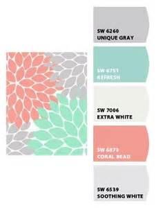nursery colors grey soft coral aqua or soft teal or