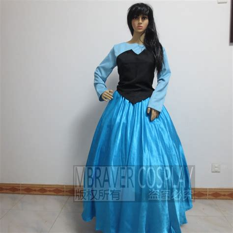 pattern for ariel blue dress the little mermaid adult ariel cosplay costume black and
