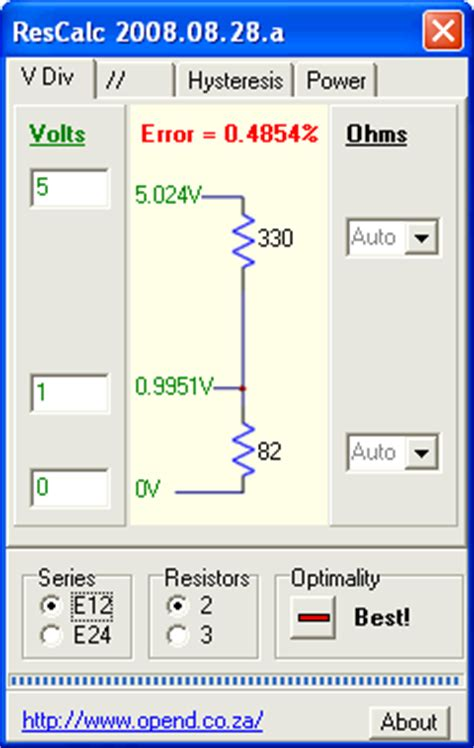 resistors power calculator resistor calculator