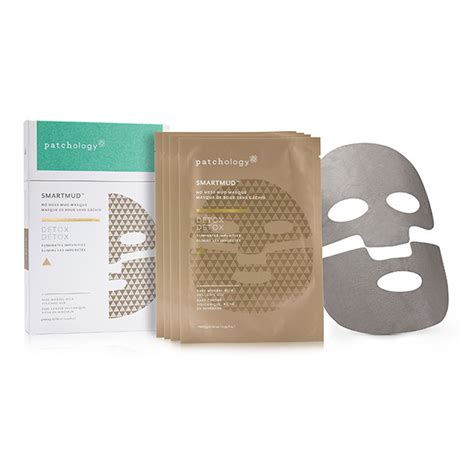Mud Packing Detox by Patchology Smartmud No Mess Mud Masque Detox 4 Masks