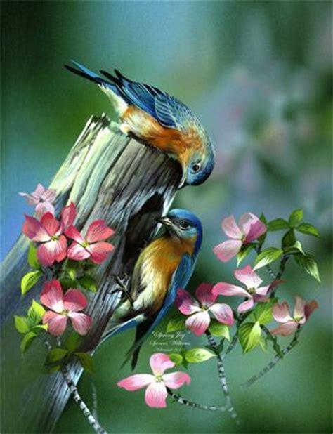 free animal painting paintings bird nests animales