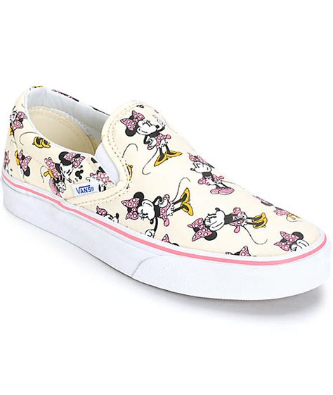 disney x vans classic minnie slip on shoes womens at