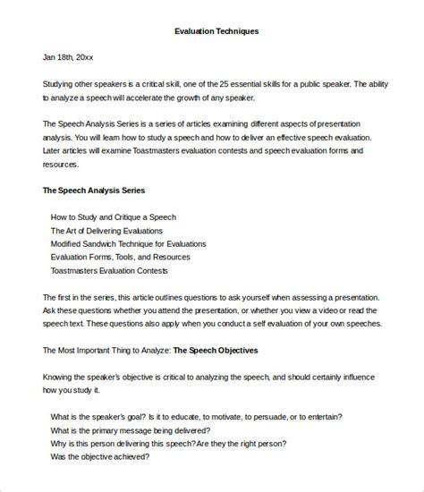 toastmasters evaluation template toastmaster evaluation template 20 free word pdf