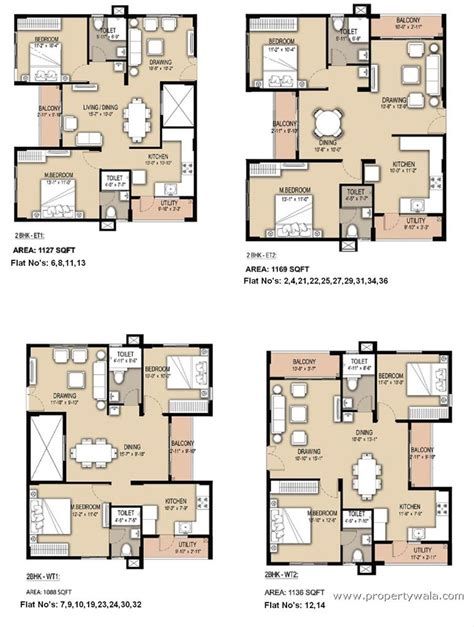 floor plans for flats 2bhk south facing floor plans google search apartments