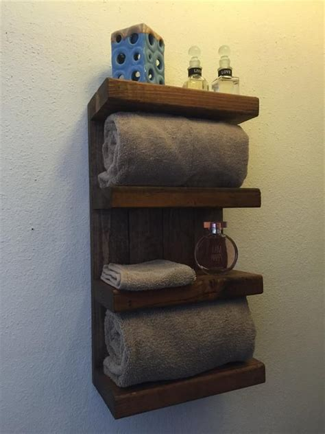 diy wooden bathroom shelves