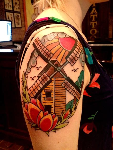 tower classic tattoo windmill by b yelp