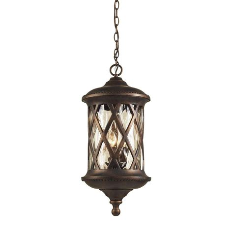 Exterior Pendant Lights Titan Lighting Barrington Gate 3 Light Hazelnut Bronze Outdoor Hanging Pendant Tn 5195 The