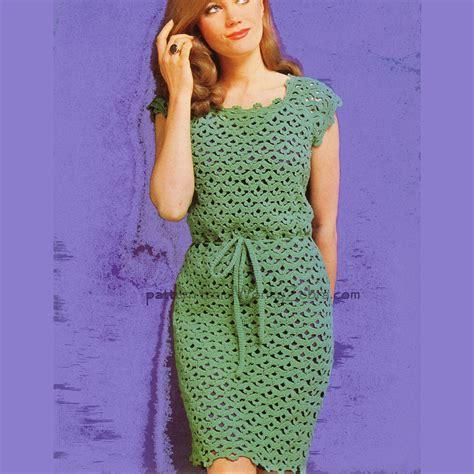 pattern sheath dress vintage crochet sheath dress pattern pdf 411 from wonkyzebra