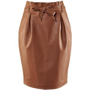 what to wear h m faux leather pencil skirt