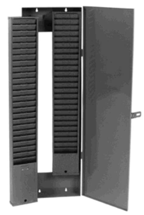 Id Card Holder Narrow By Schors model 999 n locking security cabinet for time card racks