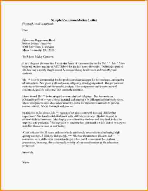 Sle Letter Of Recommendation For Scholarship For Graduate School school reference letter template 28 images sle