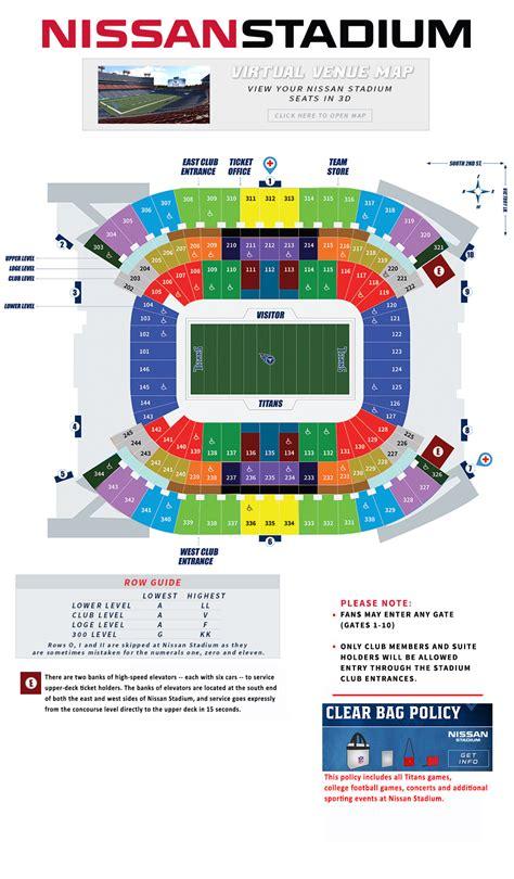stadium seating chart tennessee nissan stadium seating chart