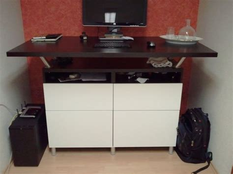 ikea hack kitchen cabinet desk beautiful standing desk made from besta cabinets and