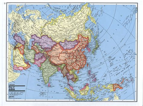 political map of aisa maps of asia and asia countries political maps